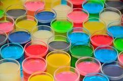 Farbe des Getränks stockfotos