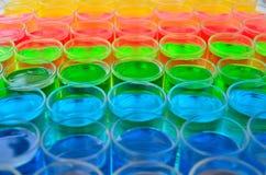 Farbe des Getränks stockbilder