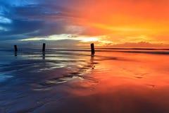 Farbe des Sonnenuntergangs Stockfoto