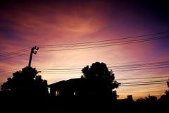 Farbe des Sonnenuntergangs Lizenzfreies Stockbild