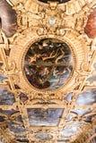 Farbe Doge ` s Palast Palazzo Ducale auf der Decke Stockfotografie