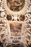 Farbe Doge ` s Palast Palazzo Ducale auf der Decke Stockfotos