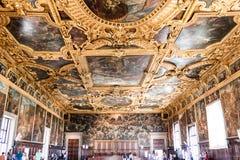 Farbe Doge ` s Palast Palazzo Ducale auf der Decke Lizenzfreies Stockbild