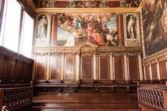 Farbe Doge ` s Palast Palazzo Ducale auf der Wand stockbild