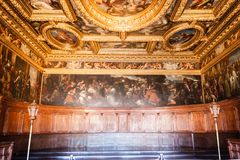 Farbe Doge ` s Palast Palazzo Ducale auf der Wand Stockfotos