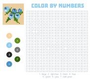 Farbe durch Zahl, Obst und Gemüse, Blaubeere stock abbildung