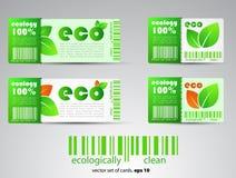 Farbe eco Karten stock abbildung