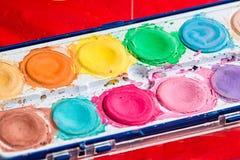 Farbe f?r k?nstlerisches zeichnendes Aquarell ist die beste Farbe lizenzfreie stockbilder