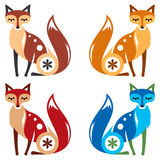 Farbe Fox vier Stockbild
