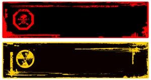 Farbe grunge Gefahrenfahne Stockbilder