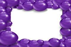 Farbe inviolet Osterei 3d Lizenzfreies Stockfoto