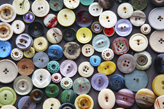 Farbe knöpft Dekoration Lizenzfreies Stockbild
