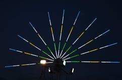 Farbe Leuchtstoff im nächtlichen Himmel Lizenzfreies Stockfoto