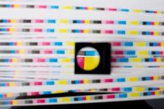 Farbe menagement - Druckblatt-Farbenqualität Stockfotografie