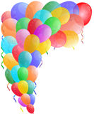 Farbe mit glattem Ballon Lizenzfreies Stockfoto