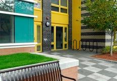 Farbe, Muster in der modernen Architektur Stockbild