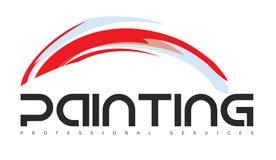 Farbe oder malender Art Gallery Logo Stockbild