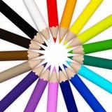 Farbe penciles auf dem weißen Hintergrund Lizenzfreie Stockfotografie