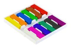 Farbe Plasticine Stockfoto