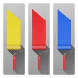 Farbe-Rollenikone Stockbilder