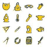 Farbe Schmiede-Icons Freehands 2 Lizenzfreie Stockfotografie