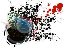 Farbe Splatters Stockfoto