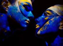Farbe stellt Kunst gegenüber Lizenzfreie Stockfotos