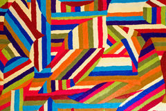 Farbe und geometrisches Muster in der Steppdecke Stockbild
