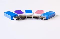 Farbe-USB-Blitz-Antrieb Lizenzfreie Stockfotografie