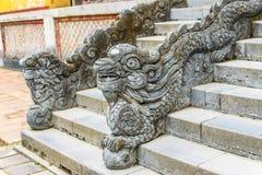 FARBE, VIETNAM, am 28. April 2018: Skulptur in der Kaiserstadt, Komplex von Hue Monuments in der Farbe, Welterbestätte, Vietnam Stockbilder