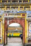 FARBE, VIETNAM, am 28. April 2018: Tor der Verbotenen Stadt an der Farbe, Vietnam Stockbild