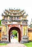 FARBE, VIETNAM, am 28. April 2018: Tor der Verbotenen Stadt an der Farbe, Vietnam Lizenzfreies Stockbild