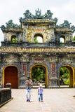 FARBE, VIETNAM, am 28. April 2018: Tor der Verbotenen Stadt an der Farbe, Vietnam Stockfotos