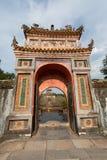 FARBE, VIETNAM - 27. MÄRZ 2015: Strukturen von Hue Citadel Complex Komplex von Hue Monuments liegt entlang dem Parfüm-Fluss in Hu Lizenzfreies Stockfoto