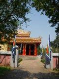 Farbe, Vietnam - 13. September 2017: Schöner Tempel mit einem blauen Himmel, gelegen in der Farbe, Vietnam Lizenzfreie Stockfotos