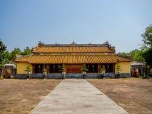 Farbe, Vietnam - 13. September 2017: Schöner Tempel mit einem enormen Patio, gelegen in der Farbe, Vietnam Lizenzfreie Stockfotos