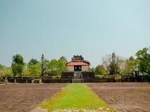 Farbe, Vietnam - 13. September 2017: Schöner Tempel mit einem enormen Patio, gelegen in der Farbe, Vietnam Lizenzfreie Stockfotografie
