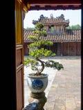 Farbe, Vietnam - 13. September 2017: Schließen Sie oben von einem alten schönen Tempel, gefunden in der Farbe, Vietnam Lizenzfreies Stockbild