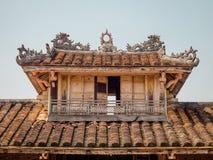 Farbe, Vietnam - 13. September 2017: Schließen Sie oben von einem alten schönen Tempel, gefunden in der Farbe, Vietnam Lizenzfreie Stockfotografie