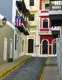 Farbe von altem San Juan Stockfotografie