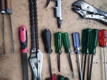 Farbe von Werkzeugen stockfoto