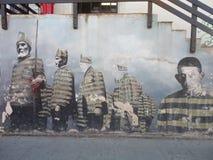 Farbe in Wand usuahia Feuerland lizenzfreies stockbild
