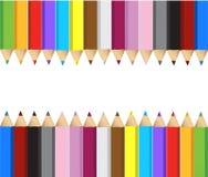 Farbe zeichnet Fahnenrahmen an stock abbildung