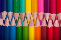 Farbe zeichnet Hintergrund an schließen Sie oben von der Bleistiftfarbe Lizenzfreies Stockbild