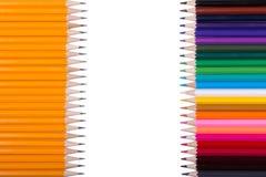 Farbe zeichnet Hintergrund an schließen Sie oben von der Bleistiftfarbe Lizenzfreies Stockfoto