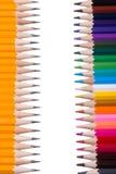 Farbe zeichnet Hintergrund an schließen Sie oben von der Bleistiftfarbe Lizenzfreie Stockbilder