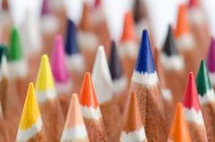 Farbe zeichnet Makro an Stockfotografie