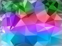 Farbeabstrakter poligonal Hintergrund Stockfoto