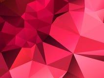 Farbeabstrakter poligonal Hintergrund Stockbilder
