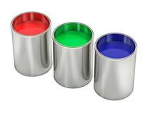 Farbeimer - mit farbiger Farbe stock abbildung